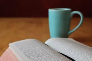 マグカップと本